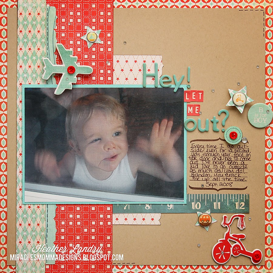 Little Boy_Outside_Funny_Scrapbook Page_Plane