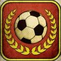 Flick Kick Football Icon Logo