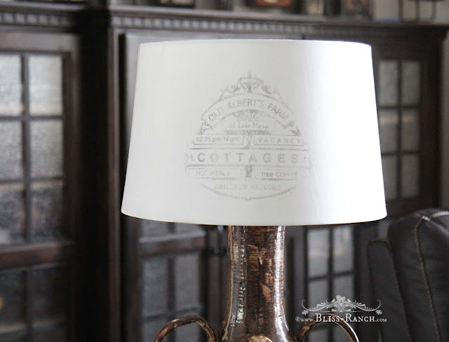 Thrift Store Decor, Citra-Solv Lampshade Transfer, Bliss-Ranch.com