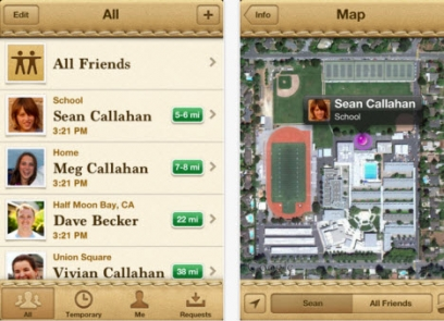 iPhone apps Find My Friends