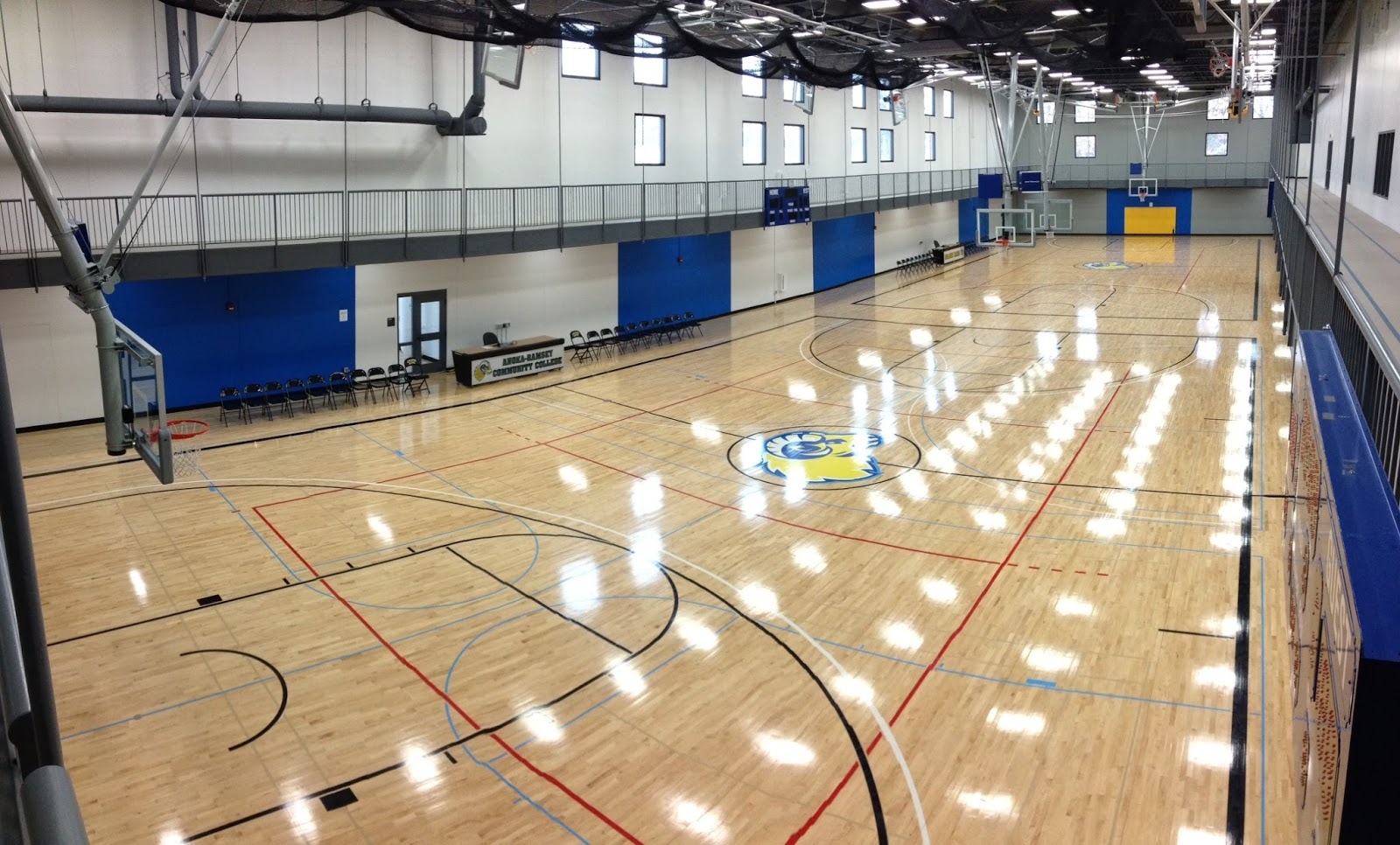 Anoka ramsey men 39 s basketball facilities for Basketball gym designs and layout