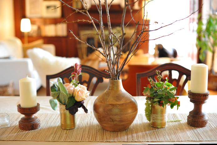 DIY Gold Soup Can Flower Vase // A New Bloom