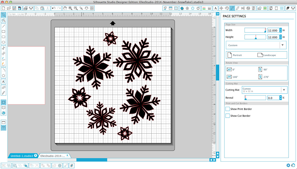 Snowflakes Saving Your Scraps and Getting the Most from your Digital Cut Files 17turtles