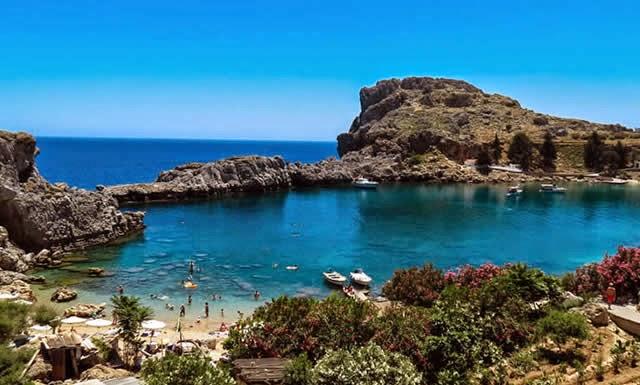 St. Pauls Bay, Ilha Rhodes, Grécia