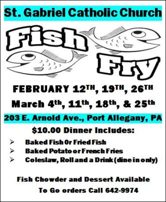 2-19 Fish Fry at St. Gabriel's, Port Allegany