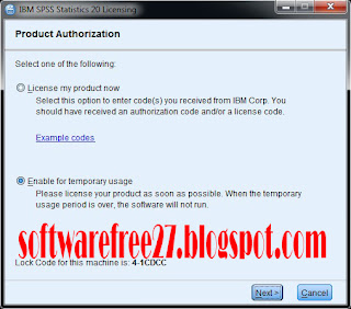 product authorization spss 20