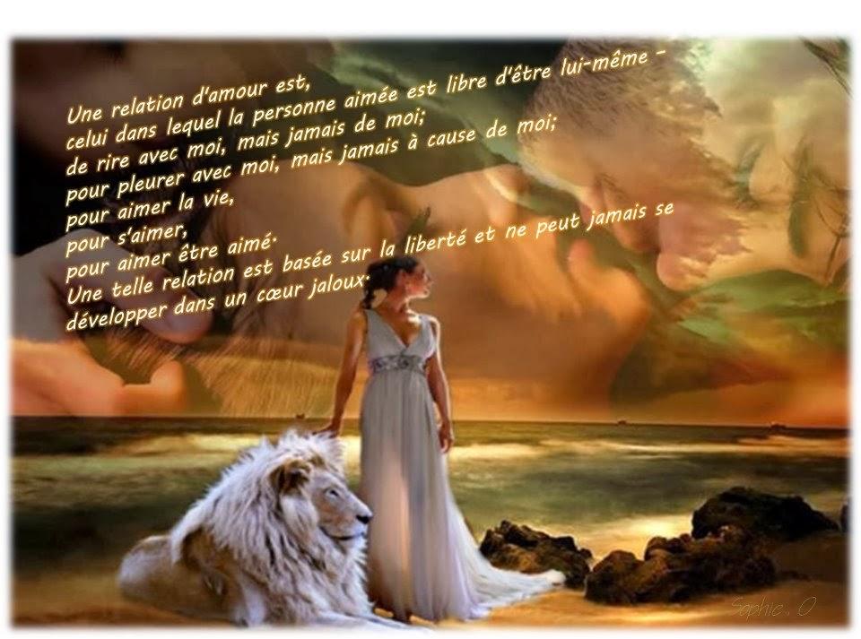 Une relation d'amour libre ne peut se développer dans un coeur jaloux ...