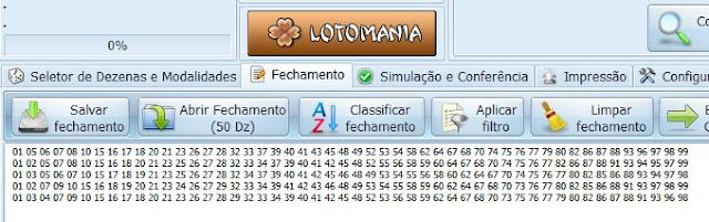 Fechamentos da Lotomania