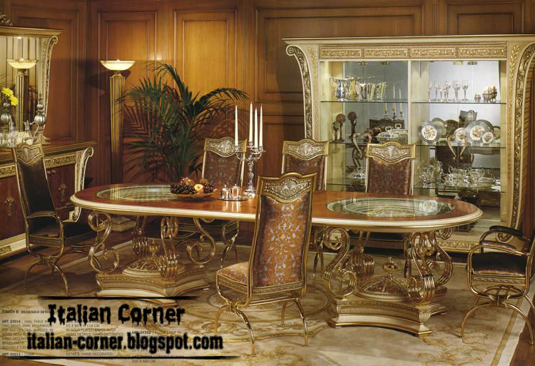 Italian, royal dining room furniture design