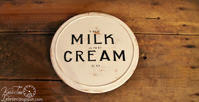 Upcycled Vintage Lazy Susan White Milk and Cream via Knick of Time