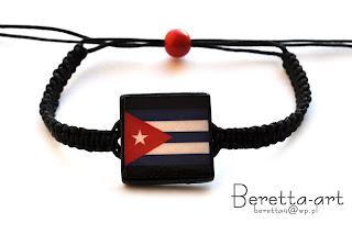 branzoletka z flagą kuby