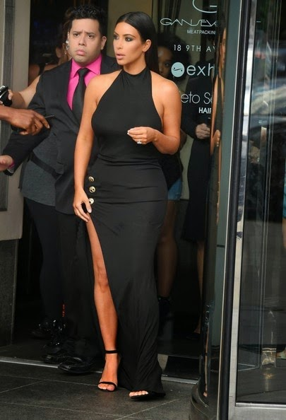 kim kardashian black evening dress