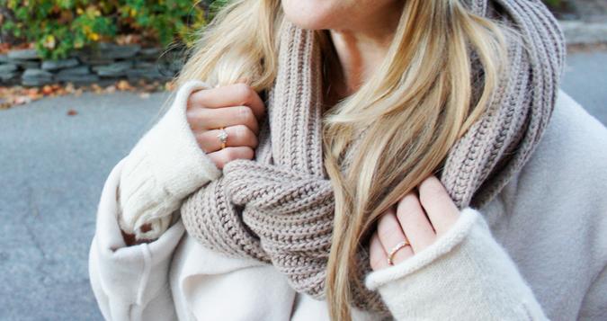 A Ruby Infinity scarf