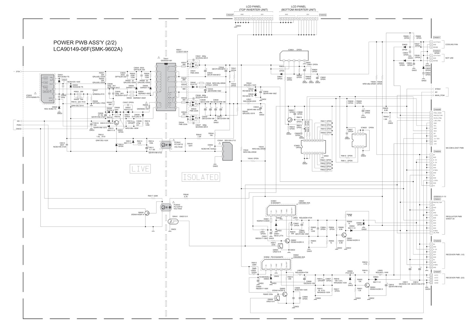 Tv Schematic Circuit Diagram Diagrams Skema Samsung Ln26b350f1 Ln32b350f1 Tft Lcd Philco Ph42m Power Supply Wire Ic