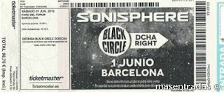 entrada festival sonisphere