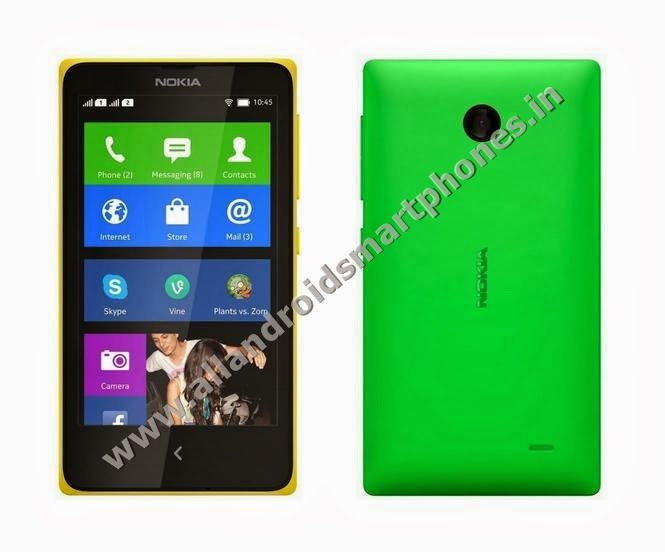 Nokia X Dual Sim Android Smartphone Front Back Side Green Color All Images Photos Review
