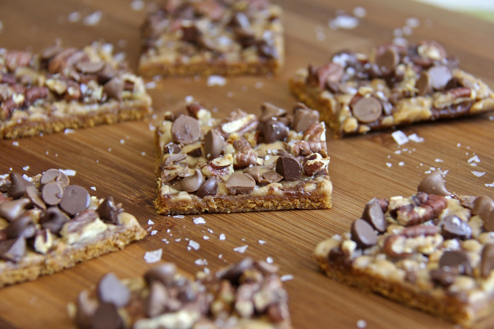 Salted Toffee Chocolate Pecan Squares | The Café Sucre Farine