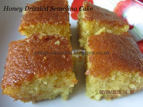 Honey-Drizzled Semolina Cake Recipe — Dishmaps