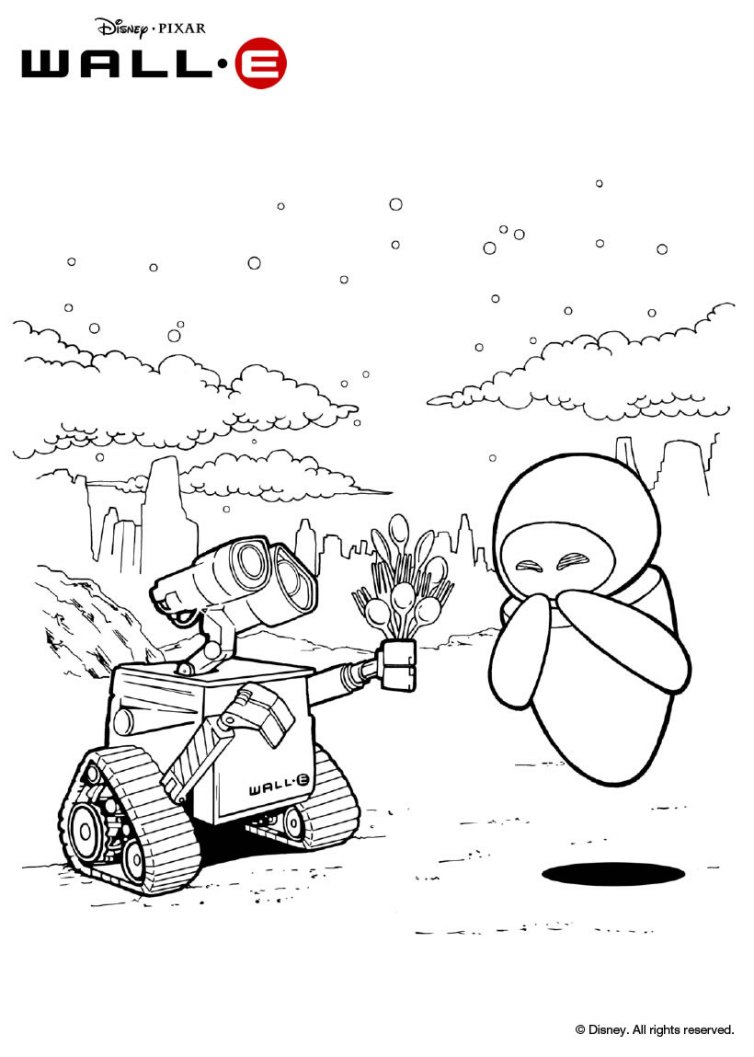 wall_e coloring pages - photo#8