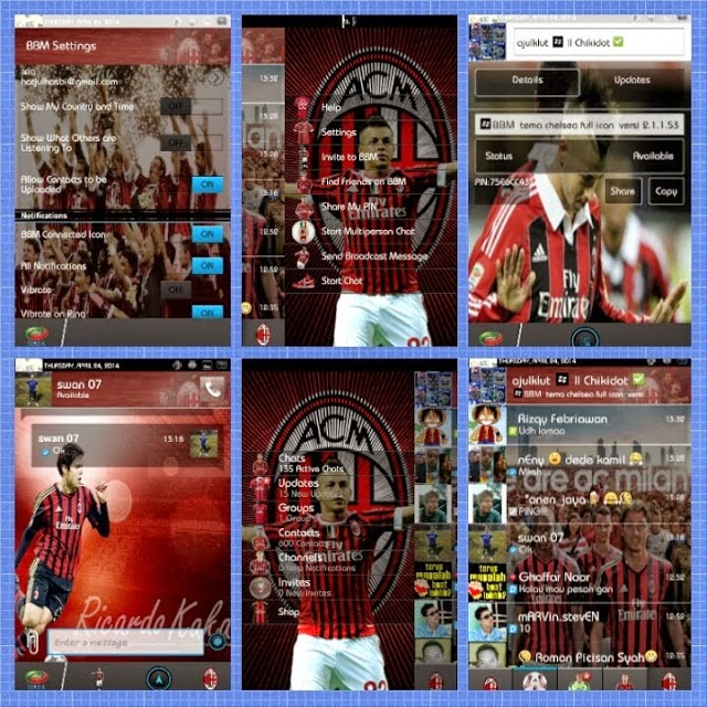Free Download BBM MOD Tema Club Sepak Bola Terbaru