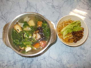 Amaranth Mini Pot Soup With Noodles, S$ 4.50