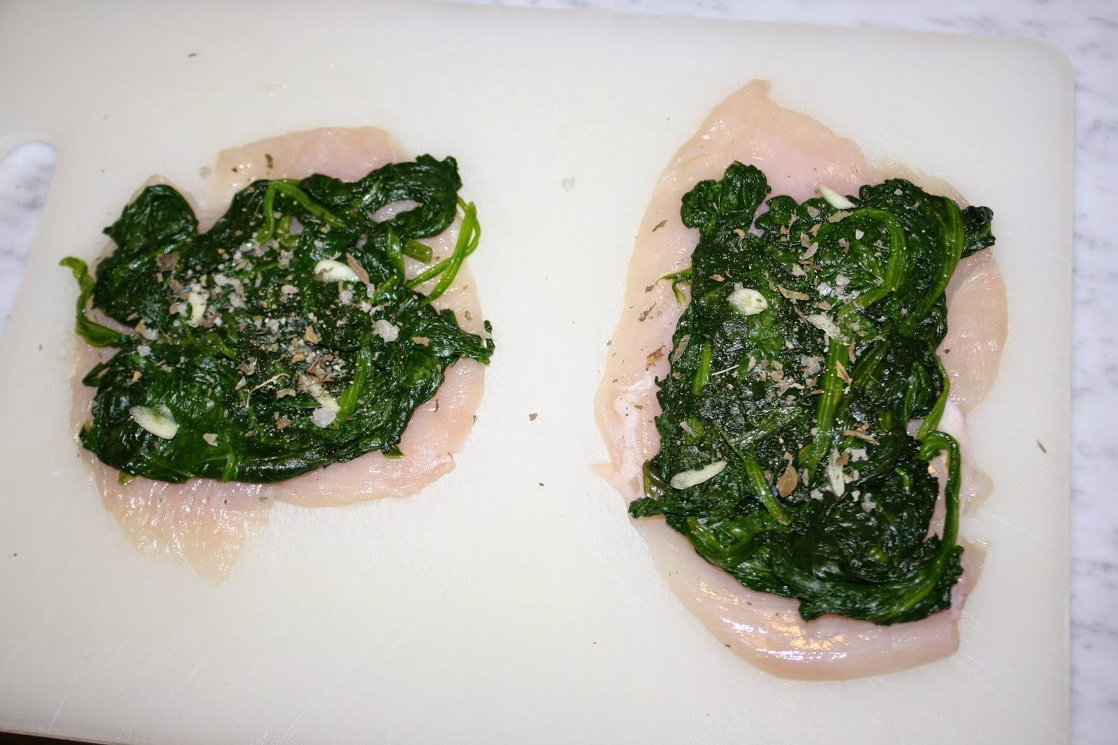 girelle pollo spinaci