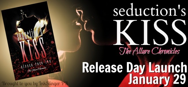Seduction's Kiss Release Day Launch Banner