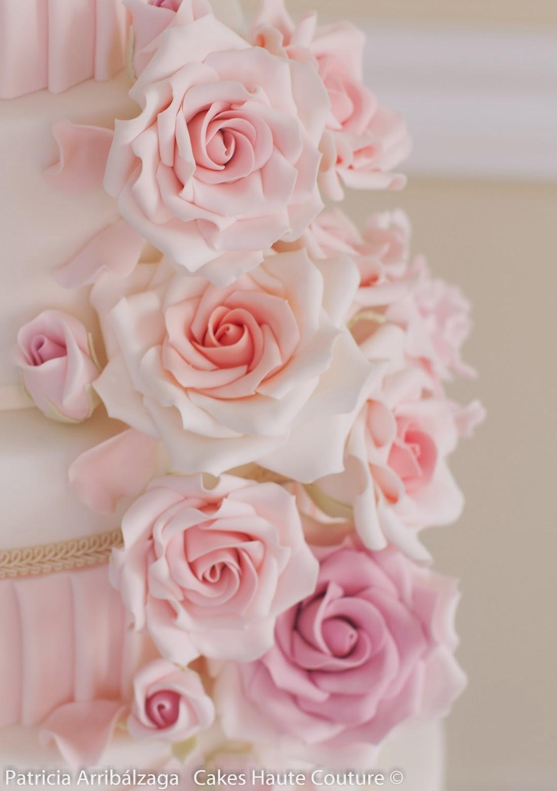rosas de azúcar