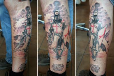 tatuaje de un Caballero Templario