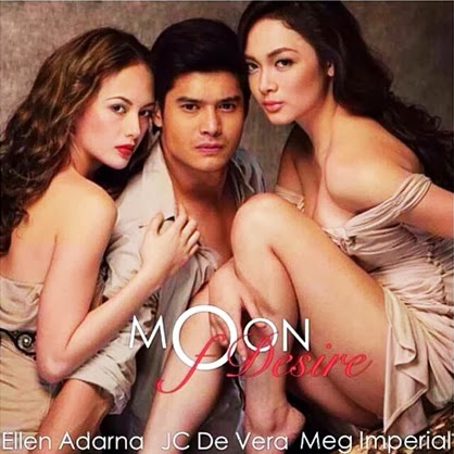 Moon of Desire lead stars Ellen Adarna, JC de Vera and Meg Imperial