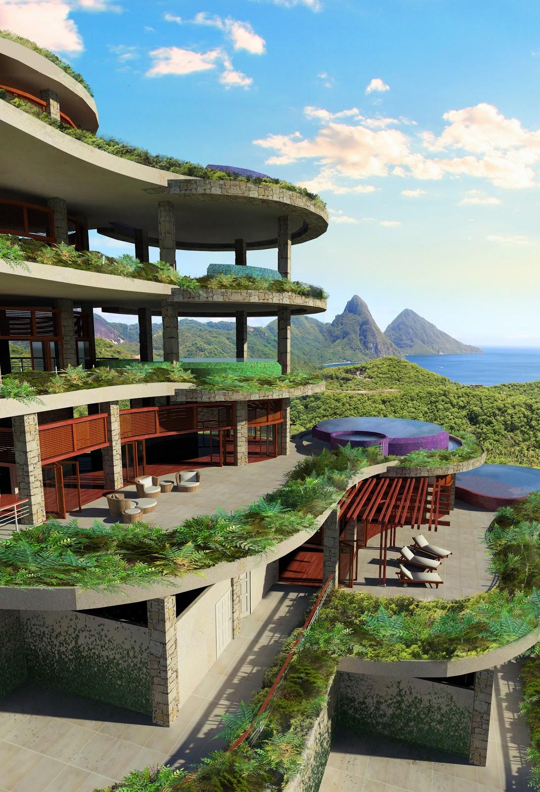 Jade Mountain St Lucia Steve Thorington Design