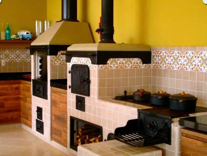 Donna Da Casa~ Decoracao Cozinha Fogao A Lenha