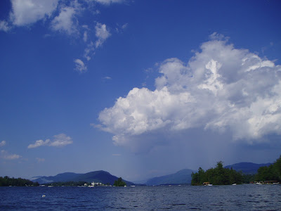 Passing storm over Black Mtn, from Huddle Bay.  The Saratoga Skier and Hiker, first-hand accounts of adventures in the Adirondacks and beyond, and Gore Mountain ski blog.