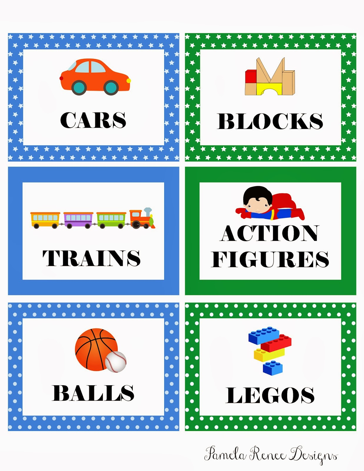 Boy Toys Template : Pamela renee designs free printable boy s toy bin labels