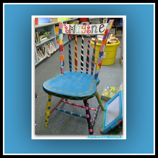 """Imagine"" Author's Chair: Kindergarten and the Role of Play via RainbowsWithinReach"