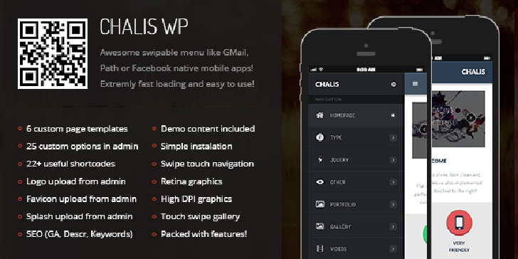 Chalis Mobile Retina WordPress Version