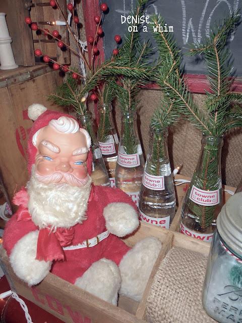 Vintage Santa Vignette via http://deniseonawhim.blogspot.com