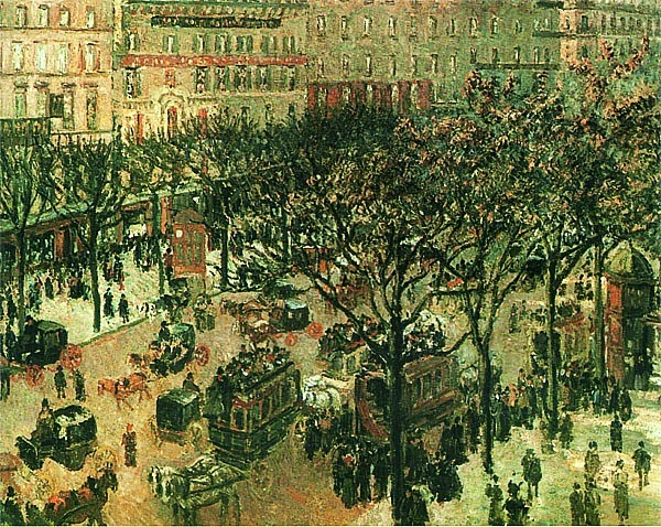 Камиль Писсарро. Итальянский бульвар. 1877.