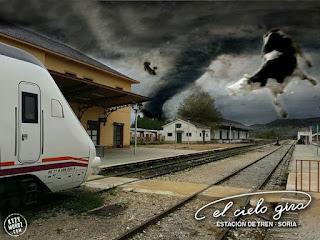 Cartel del bar El Cielo Gira, de Soria