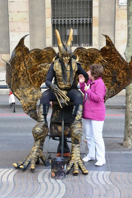 La Rambla Barcelona Devil