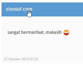 contoh komentar menggunakan link di blog