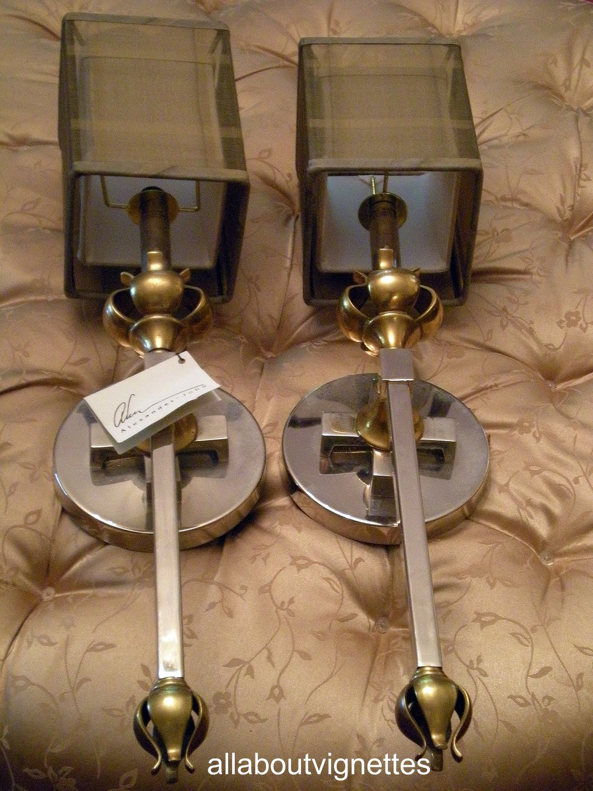 Wall Sconces In Foyer : All About Vignettes: Foyer Wall Sconce Change Up