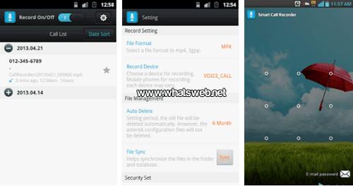 Graba tus llamadas con Smart Auto Call Recorder en WhatsApp