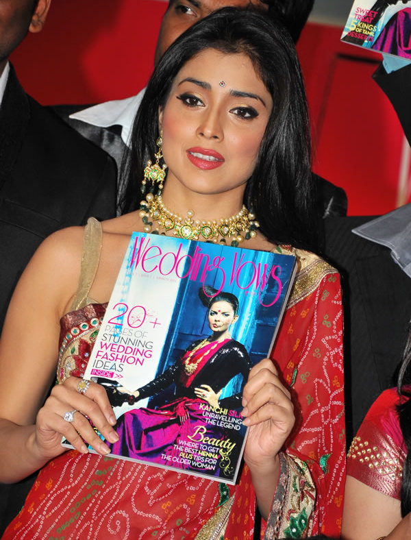 Red Hot Shriya Saran Launches Wedding Vows Magazine