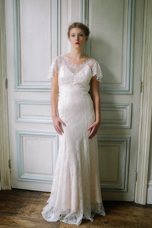 Full length pic of Birdcage veil for vintage wedding dresses - Heavenly Vintage Brides