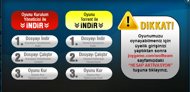 Wolfteam Joygame WTS Trkiye indir