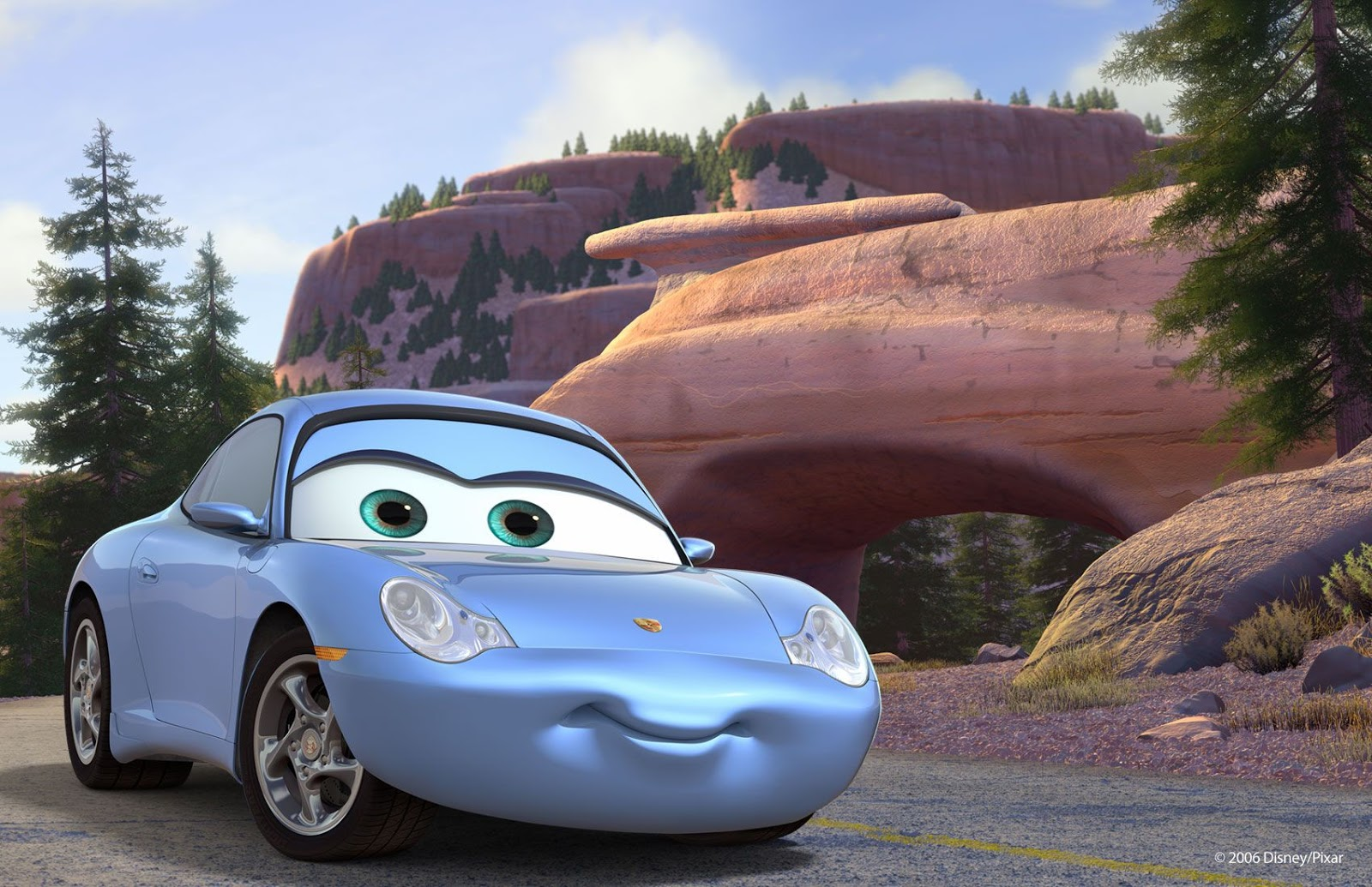 blue car near cave