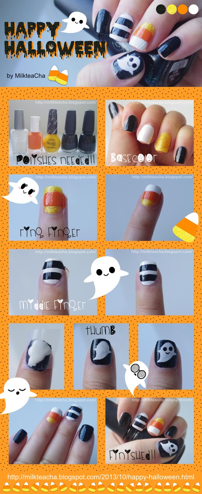 Happy Halloween Nail tutorial