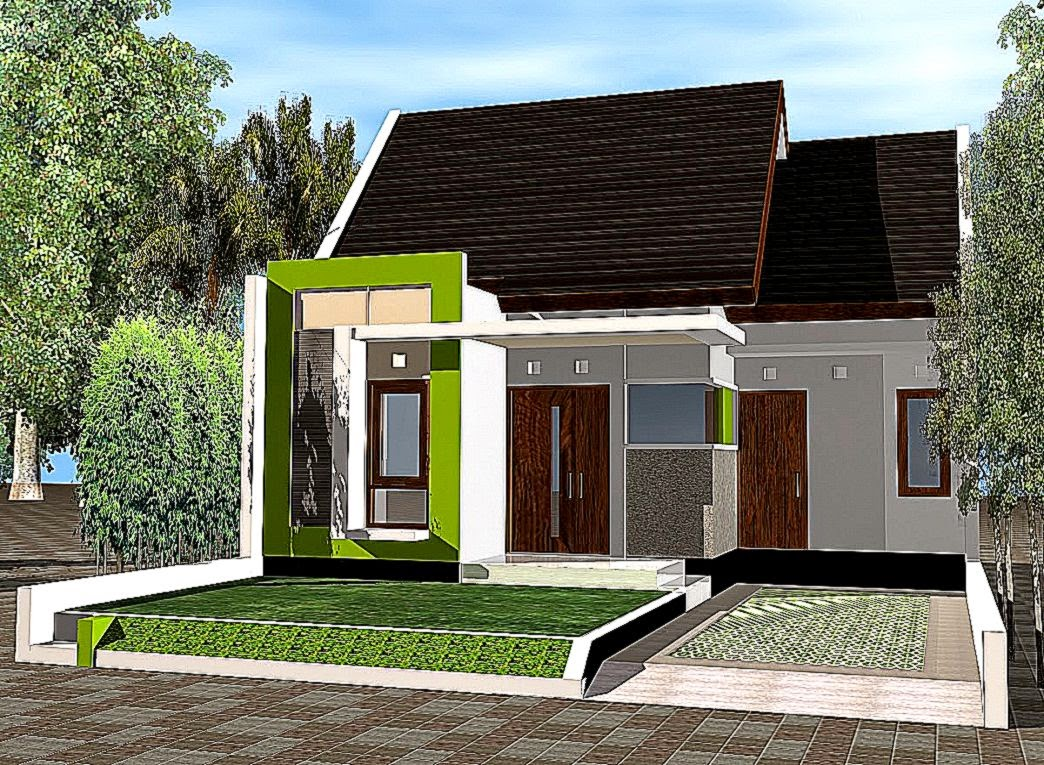 Desain Exterior Rumah Minimalis Type Mewherbr   Desain  Interior