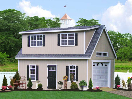Prefab garage packages from sheds unlimited in lancaster pa for 2 story garage packages